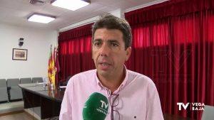 """Carlos Mazón acusa a la Generalitat de defender el trasvase """"solo cuando viene por la Vega Baja"""""""