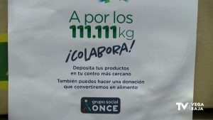 La ONCE pone en marcha una campaña solidaria para reunir 111.111 kilos de alimentos