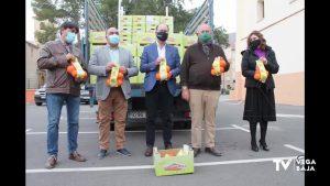 De Orihuela a León: se envían 900 kilos de naranjas ecológicas a escolares