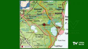 La Vega Baja se levanta con un terremoto de 1.9 con epicentro al oeste de Los Montesinos