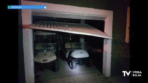 La Policía Local de Rojales evita un robo en un almacén del campo de golf La Marquesa