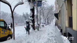 Así han vivido la nevada histórica de Madrid los jóvenes de la Vega Baja que viven en la capital