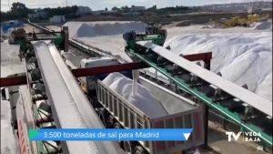 90 camiones viajan de Torrevieja a Madrid cargados con 3.500 toneladas de sal
