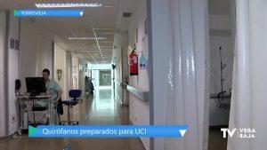 El Hospital de Torrevieja prepara los quirófanos para utilizarlos como UCI si fuera necesario