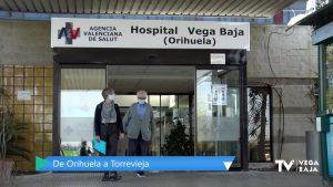 El Hospital Vega Baja deriva pacientes al Hospital de Torrevieja