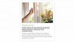 Curso gratuito para aprender a ventilar espacios cerrados
