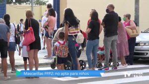 Los expertos desaconsejan las mascarillas FFP2 para niños