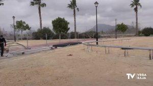 Avanzan las obras del parque de calistenia, el Skate Park y las pistas de petanca en Benejúzar