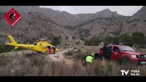 Los bomberos rescatan a un joven de 21 años inconsciente y con convulsiones en el Pico del Águila