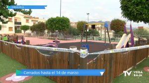 Orihuela teme brotes en los parques infantiles: permanecerán cerrados hasta el 14 de marzo