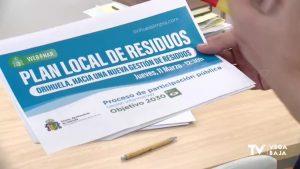Orihuela contará con los vecinos para la redacción del Plan Local de Gestión Residuos