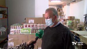 Cáritas de Callosa de Segura recibe más de 3.000 kilos de alimentos
