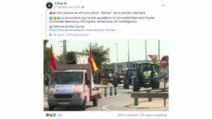 """El PP acusa a À Punt de permitir mensajes """"que incitan al odio"""" sobre la protesta del plurilingüismo"""