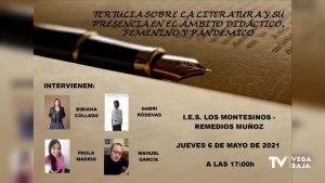 Tertulia literaria en el IES Los Montesinos Remedios Muñoz