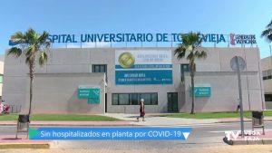 El Hospital de Torrevieja no tiene pacientes ingresados en planta por coronavirus