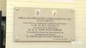 Finalizan las obras en el colegio Juan Carlos I de Formentera del Segura