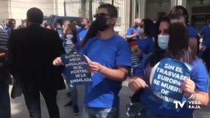 De la Vega Baja a Madrid: los regantes se plantan ante el Ministerio para defender el trasvase