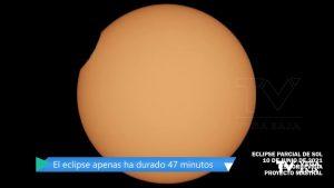 Así se ha visto desde la Vega Baja el eclipse parcial de Sol