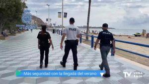 Agentes de España, Francia e Italia patrullan en Alicante para reforzar la atención a los turistas