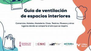 La Comunidad Valenciana reparte una guía de ventilación para espacios cerrados