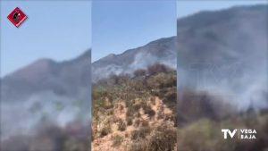 Un incendio en la CV-868 alcanza llamas de casi tres metros de altura