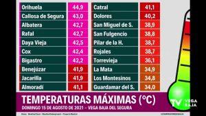 La ola de calor dispara los termómetros de toda la Vega Baja