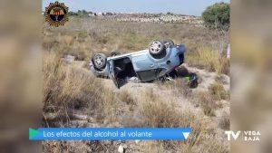 La policía intercepta este fin de semana dos vehículos que conducían bajo los efectos del alcohol