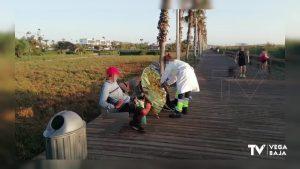 La Policía Local de Pilar de la Horadada localiza una patera en la playa El Mojón
