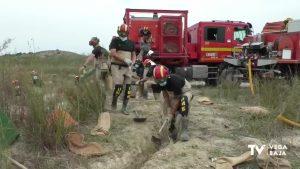 La UME se desplaza a la Vega Baja para llevar a cabo maniobras que eviten una nueva inundación
