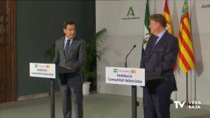La Comunidad Valenciana y Andalucía, unidas por un nuevo modelo de financiación autonómica