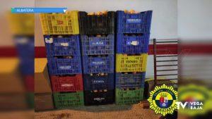 La Policía Local de Albatera evita que dos personas roben 400 kg de granadas