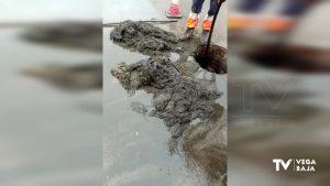 Cientos de toallitas atascan la red de alcantarillado de Callosa de Segura