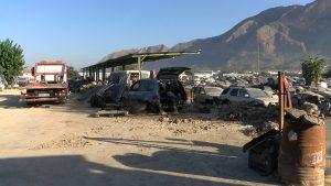 20.000 metros cuadrados de desguace arrasados por la riada
